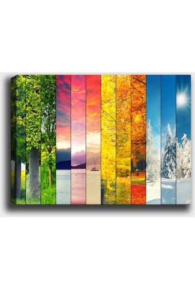 Syronix Manzara Mevsimler Kanvas Tablo