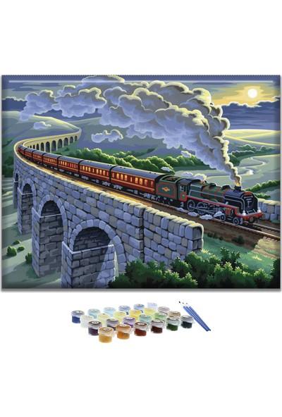 Doruk Baskı Sayılarla Boyama Seti - Kara Tren