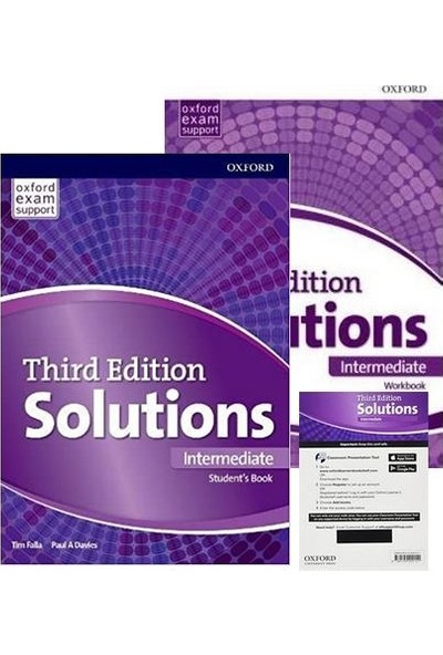 Oxford Solutions Third Edition Intermediate - Student's Book+Workbook+Access Code