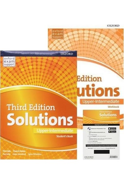 Oxford Solutions Third Edition Upper-Intermediate - Student's Book+Workbook+Access Code