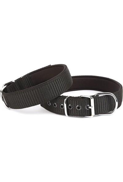 Doggie Konfor Seri Dokuma Köpek Boyun Tasması 5X60-70CM Siyah