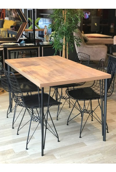 Balkon Masası + 4 Sandalye Atlantik 120-80