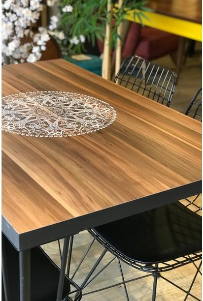 Mutfak Masası + 4 Sandalye Ceviz Logo 110-70