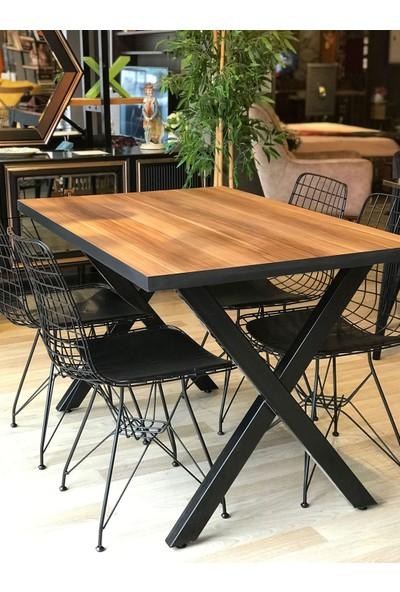 Balkon Masası + 4 Sandalye x Ayk Ceviz 120-80