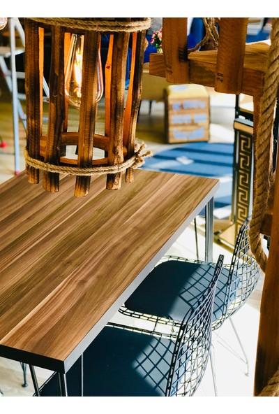 Balkon Masası + 4 Sandalye Ceviz 110-70