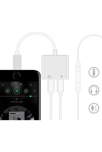 Zabata Apple iPhone Lightning 2in1 Şarj Kulaklık Dönüştürücü Jack Adaptör Şarj Çoğaltıcı Splitter