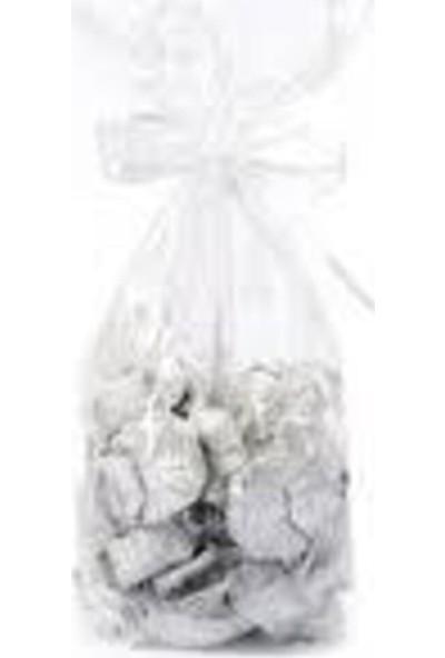 Melodi Çikolata Gümüş Yaldızlı Dekorlu Tektaş Çikolata 500 gr