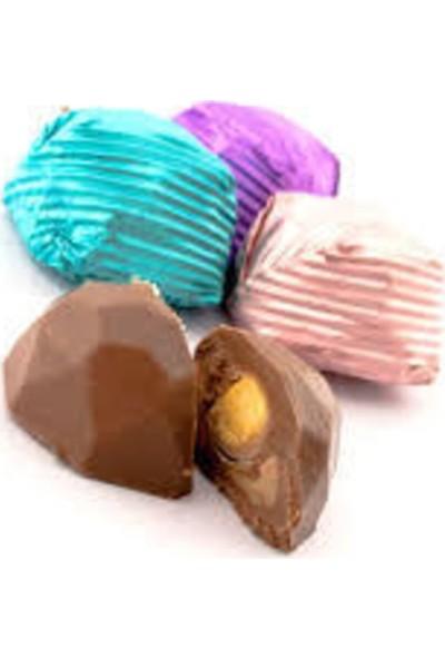 Melodi Çikolata Yaldızlı Kristal Fındıklı Sütlü Çikolata 500 gr