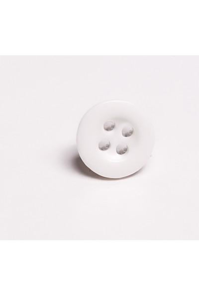 AnkaPolyester Düğme Beyaz Gömlek Düğmesi 10 mm 50'li