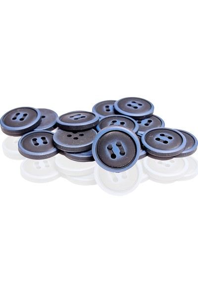 AnkaPolyester Düğme Mavi Siyah Koroza 20'li mm 20'li