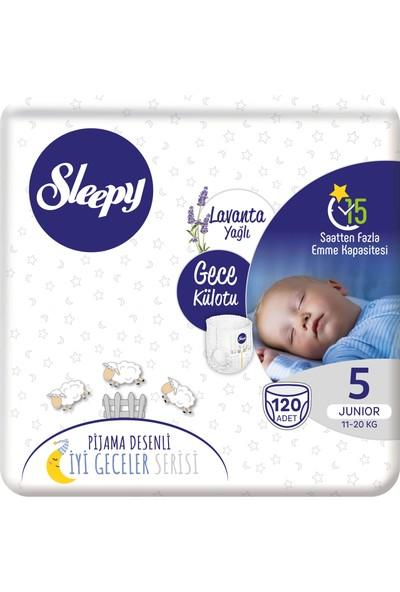 Sleepy Gece Külotu Lavanta Yağlı 5 Numara Junıor 120'li