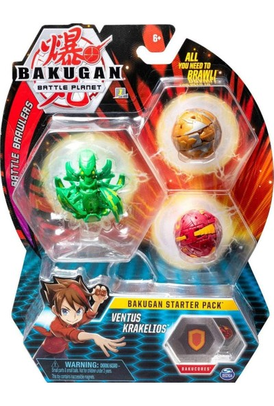 Bakugan Ventus Krakelios 3'lü Set 20108794