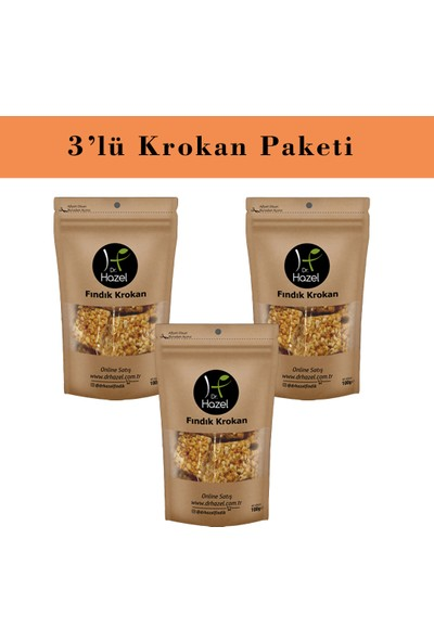 Dr. Hazel Fındıklı Krokan 100GR 3'lü Paket