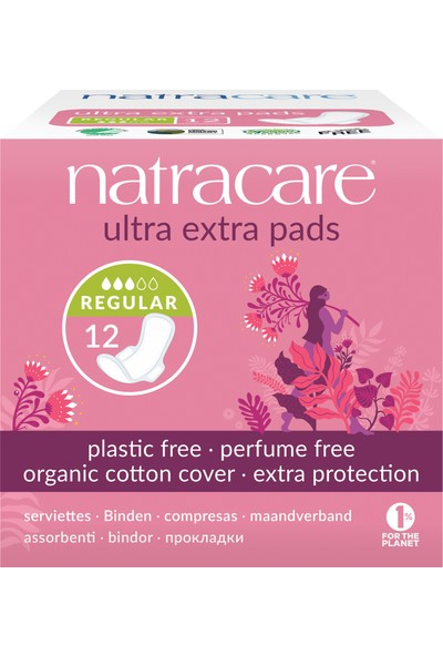 Natracare Ultra Ekstra Kanatlı Ped Regular 12'li