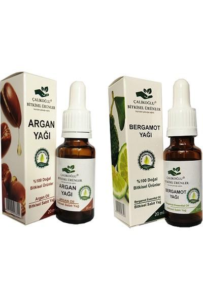Çalıkoğlu Bitkisel Ürünler Argan Yağı Bergamot Aroma Verici 2'li Avantaj Paketi 20 ml
