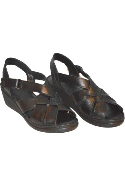 Biocomfort Anatomik Deri Siyah Sandalet