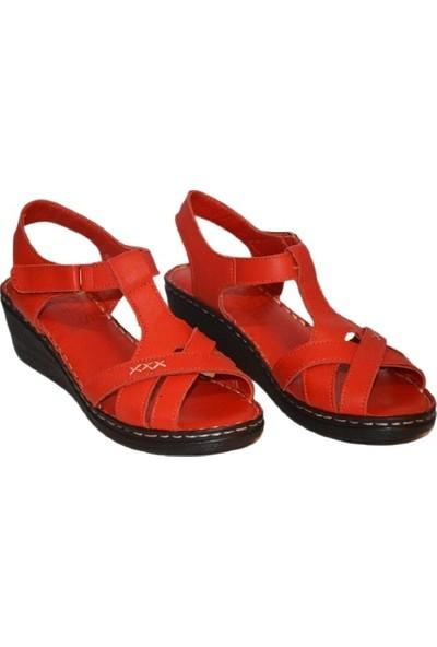 Biocomfort Anatomik Deri Kırmızı Sandalet