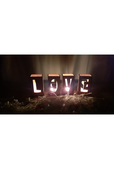 Tsd Dekorasyon 4 Adet Love Mumluk