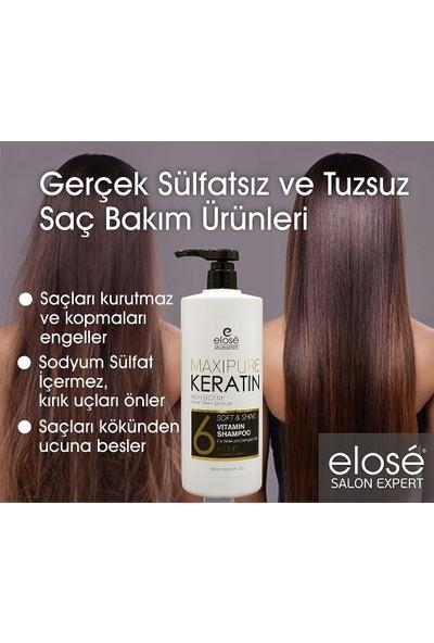Elose Keratin Şampuan 1000 ml + Keratin Saç Kremi 1000 ml + Bakım Sütü+ Bakım Serumu 125 ml