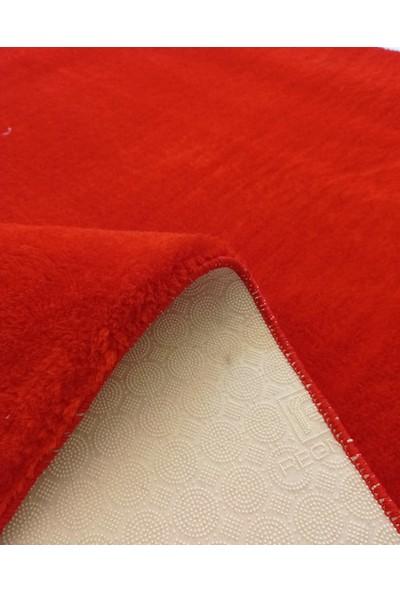Balat Halı Kalın Yumuşak Kaymaz Taban Kırmızı Peluş - Post Halı