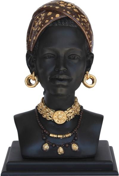 Ahşapdede Küpeli Afrikalı Kız