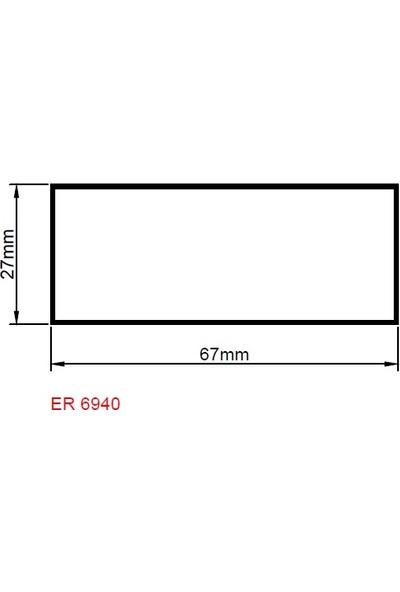 Ersaş Alüminyum Kutu Mastar Profili 67MMX27MM Er 6940 Pres 2mt 1li