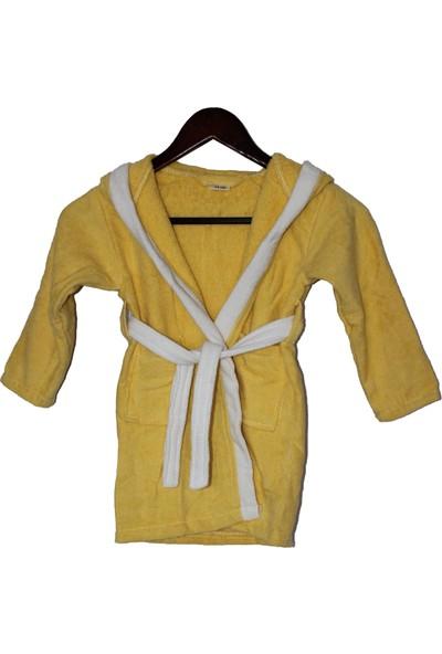 Yüsra Ticaret Yusra Çocuk Bornoz, Pamuklu, Sarı, 7-8 Yaş