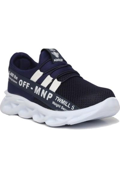 Minicup Lacivert-Beyaz Erkek Çocuk Spor Sneaker Ayakkabı
