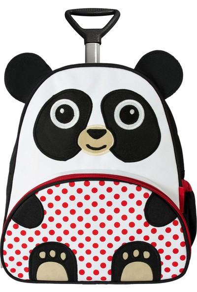 Zoozy Panda Çekçekli Anaokulu Sırt Çantası Siyah - Beyaz