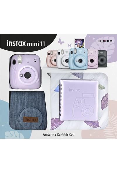 Fujifilm Instax Mini 11 Jean Çantalı Lila Kit