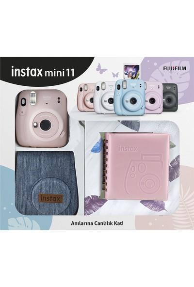Fujifilm Instax Mini 11 Jean Çantalı Pembe Kit