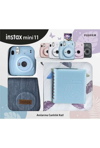 Fujifilm Instax Mini 11 Jean Çantalı Mavi Kit