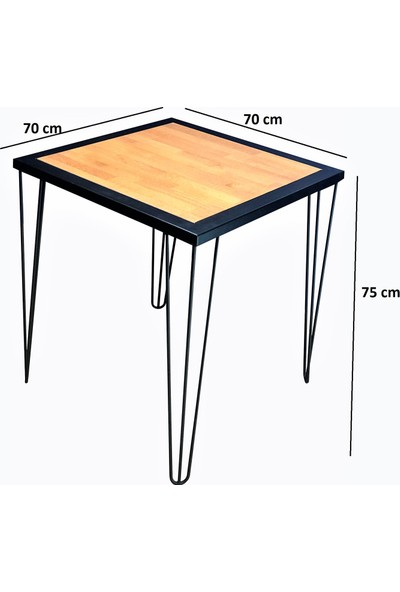 Zg Endüstriyel Home Iskarpela Masif Metal Firkete Ayak Kafe Mutfak Bahçe Yemek Masası