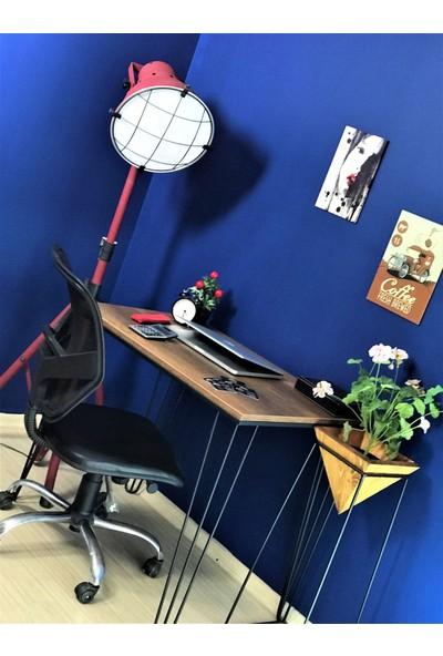 Zg Endüstriyel Home Iskarpela Barok Firkete Metal Ayaklı Çalışma Masası