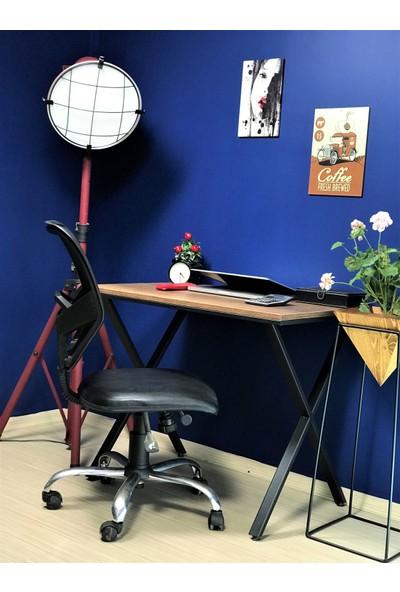 Zg Endüstriyel Home Iskarpela Barok Çapraz Metal Ayaklı Çalışma Masası