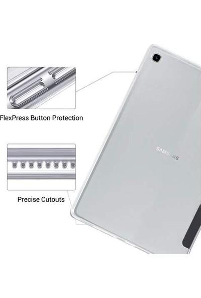 Turotto Samsung Galaxy Tab S7 Plus T970 T975 T977 12.4 Inç Yatay Standlı Uyku Modlu Smart Case Turkuaz