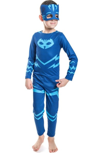 Celicido Pijamaskeliler Kedi Çocuk Kostümü - X-Small - Pjmask Çocuk Kostümleri