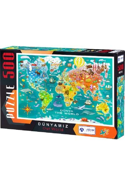 Adam Games Dünyamız 500 Parça Puzzle