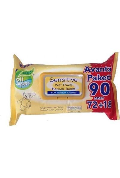 Bii Wipes Sensitive Islak Mendil 90'lı