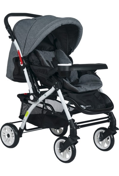 4 Baby Ab 320 Active Çift Yönlü Bebek Arabası Gri