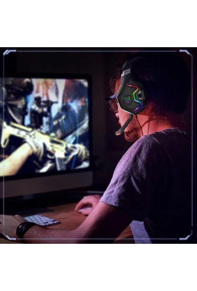 Onikuma K10 Pro Oyuncu Kulaklığı Mikrofonlu Değişen Rgb Aydınlatmalı Siyah