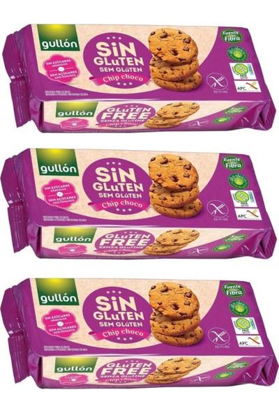 Gullon Glutensiz Şekersiz Bisküvi 130 gr x 3'lü