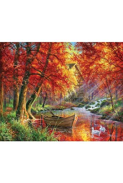 Neon 1000 Parça Puzzle Kızıl Orman