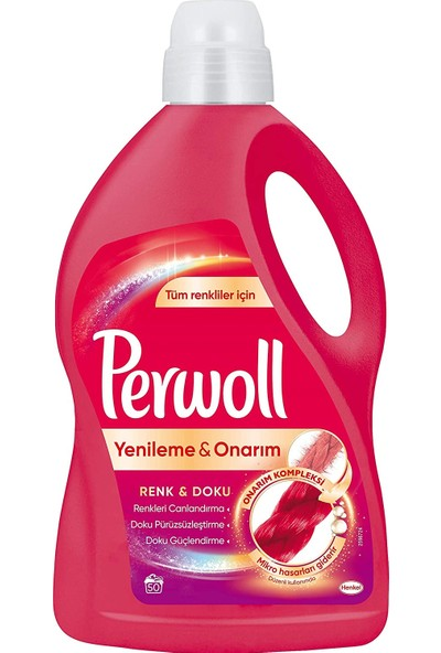 Perwoll Geliştirilmiş Renkli 50WL 3l