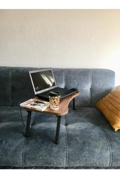 Goringo Laptop Sehpa Çalışma Kahvaltı Masası Ceviz