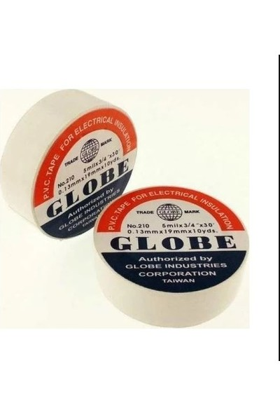 Globe Beyaz Elektrik Bandı Izole Bant 5 Adet