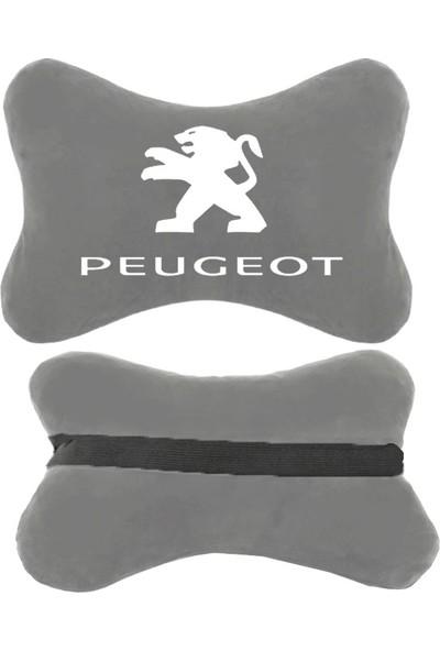 1Araba 1Ev Peugeot Oto Koltuk Boyun Yastığı Araba Araç Koltuk Seyehat Yastık Gri 2 Adet