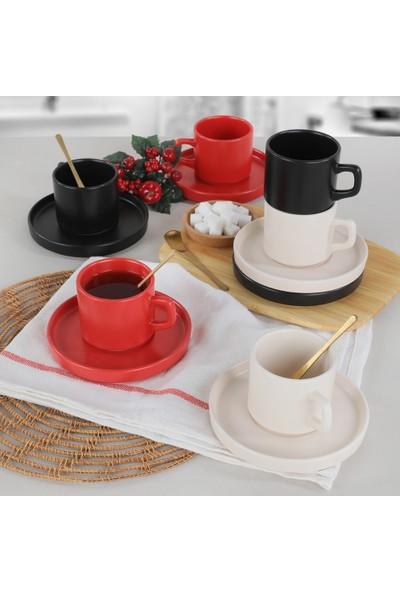 Keramika Noble Mat Çay Takımı 12 Parça 6 Kişilik - 975