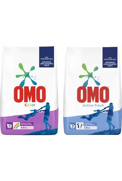 Omo Color 5,5 kg Renkliler 34 Yıkama + Omo Actıve Fresh 5,5 kg Beyazlar
