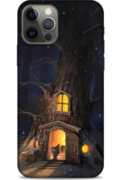 Lopard Apple iPhone 12 Pro Kılıf Snowix (47) Crystal Flex Kılıf Sarı Kahve